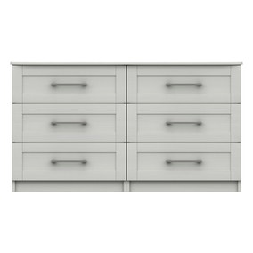 Ethan White 3 Drawer Double Chest