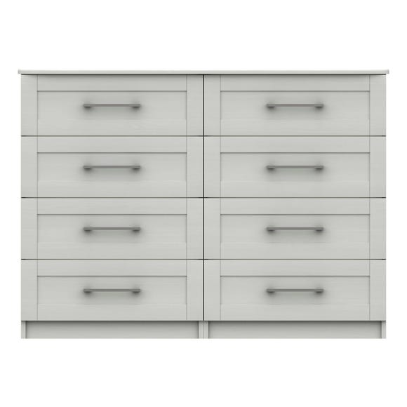 Ethan White 4 Drawer Double Chest