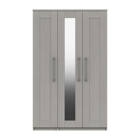 Ethan Light Grey 3 Door Wardrobe
