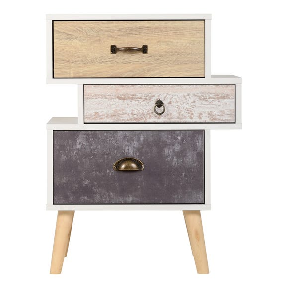 Nordic Bedside Table White