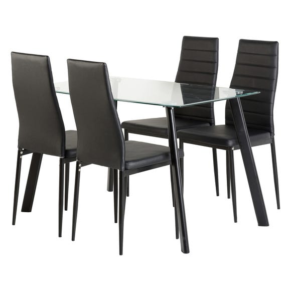 Abbey Small Dining Set Black