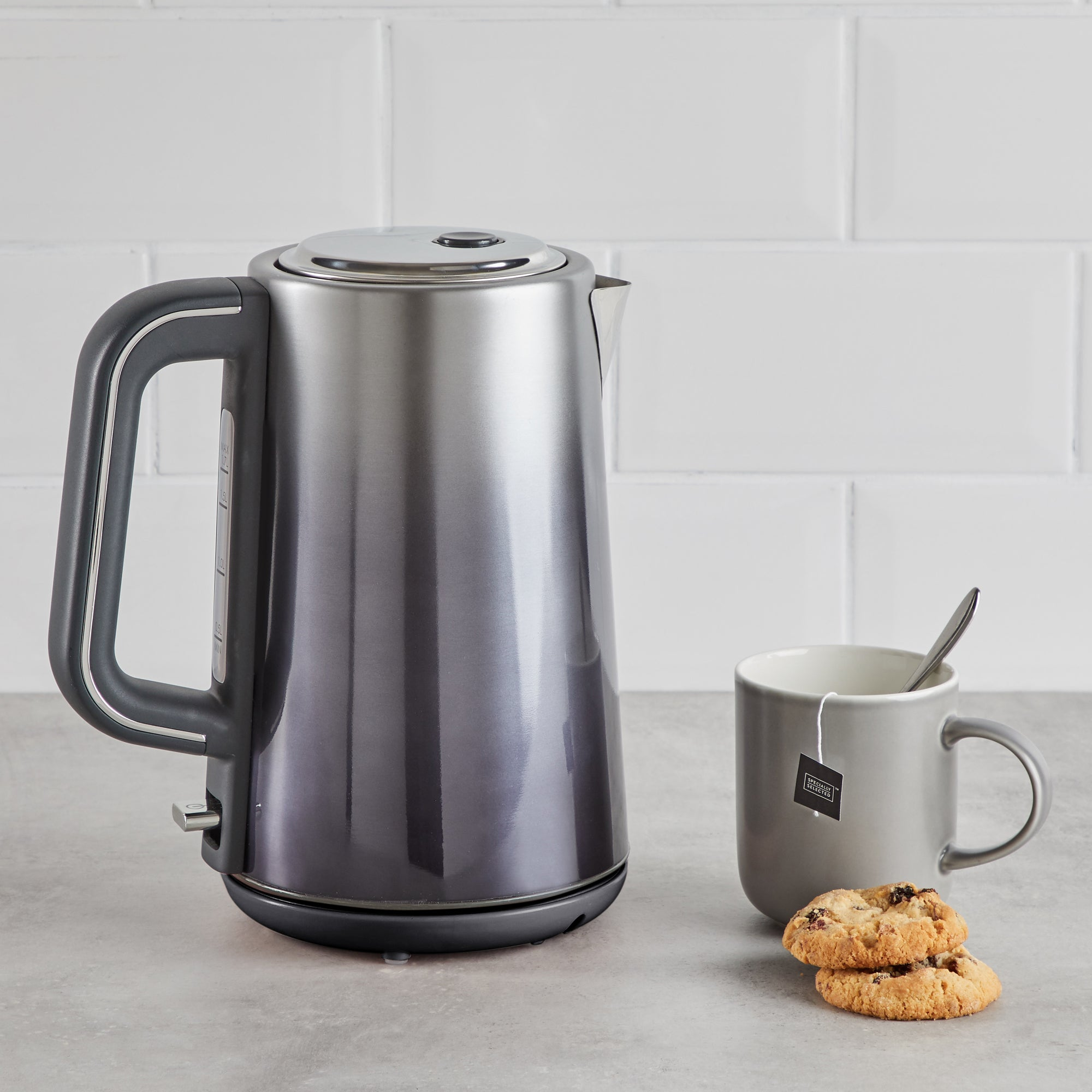 Ombre Effect 17l 3kw Pewter Kettle Silver