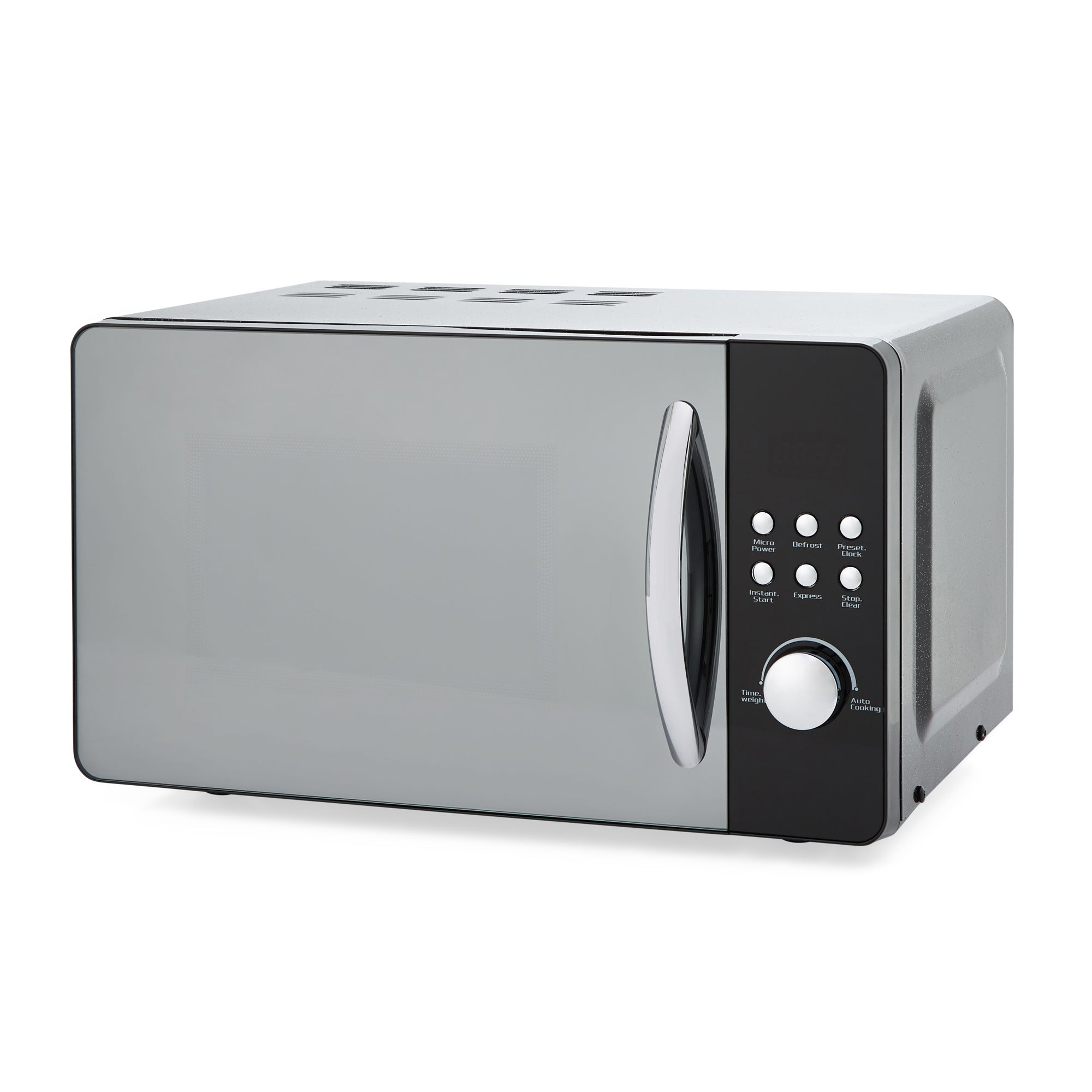 Dunelm Bling 20l 700w Black Microwave Black And Silver