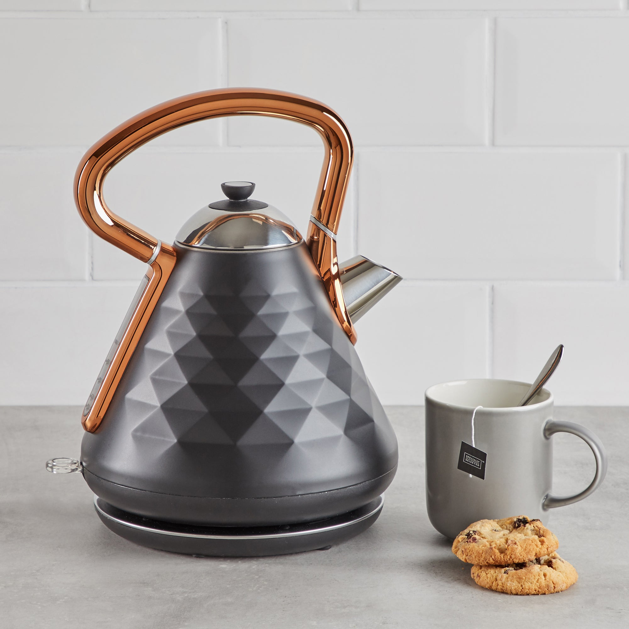 Click to view product details and reviews for Elements 17l 3kw Black And Copper Kettle Black And Orange.