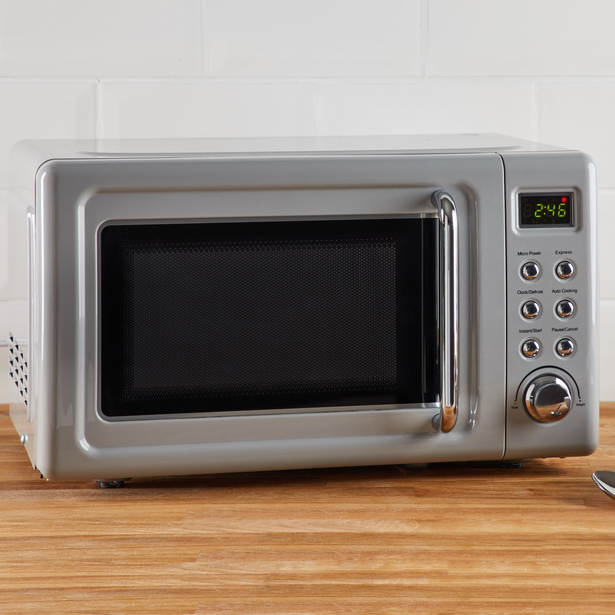 Click to view product details and reviews for Retro 20l 800w Grey Microwave Grey.