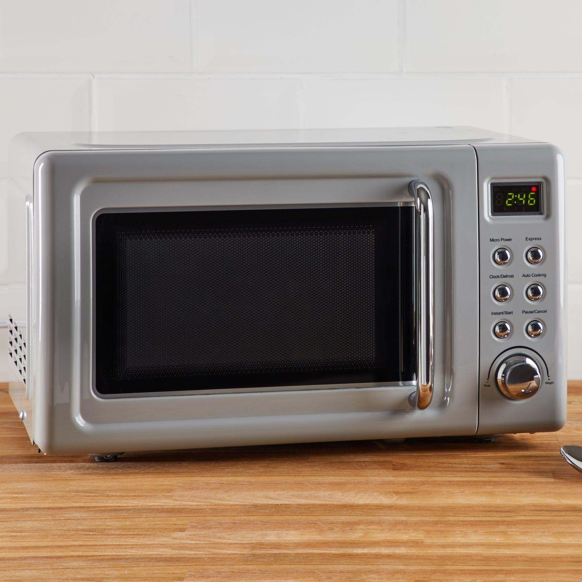 Retro 20L 800W Grey Microwave Grey