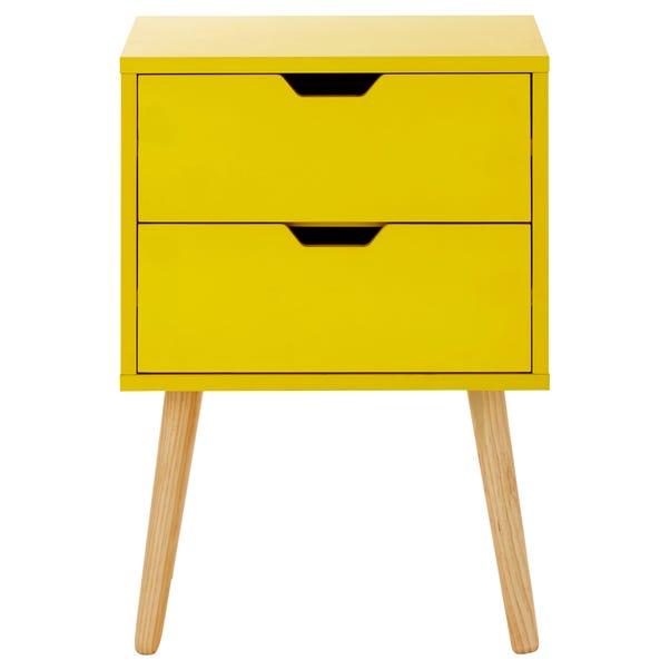 Nyborg Bedside Table Yellow