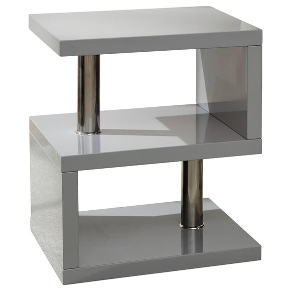Polar LED Side Table Grey