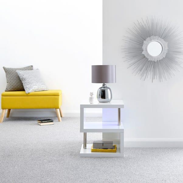 Polar LED Side Table White