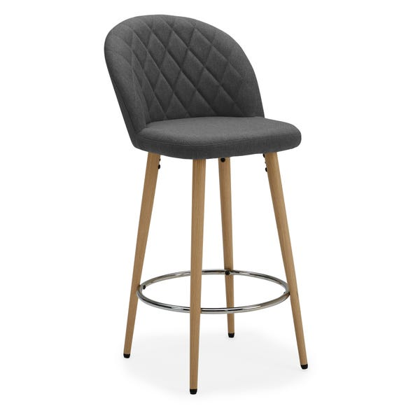 Astrid Bar Stool Charcoal Fabric Charcoal