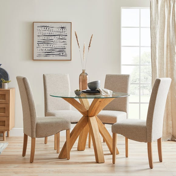 Ethan Set of 2 Dining Chairs Grey Boucle