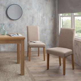 Hugo Set of 2 Dining Chairs Cream