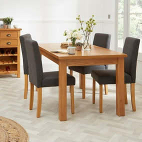 Hugo Set of 2 Dining Chairs Charcoal Fabric