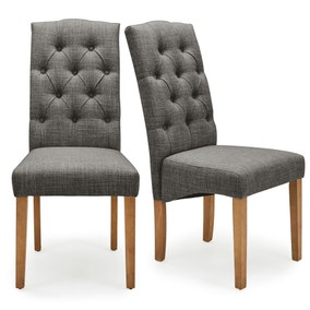 Darcy Set of 2 Dining Chairs Charcoal