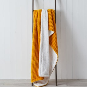 Jumbo Cord Sherpa 130cm x 180cm Throw