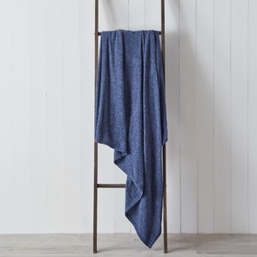 Chenille Denim Blue 130cm x 180cm Throw