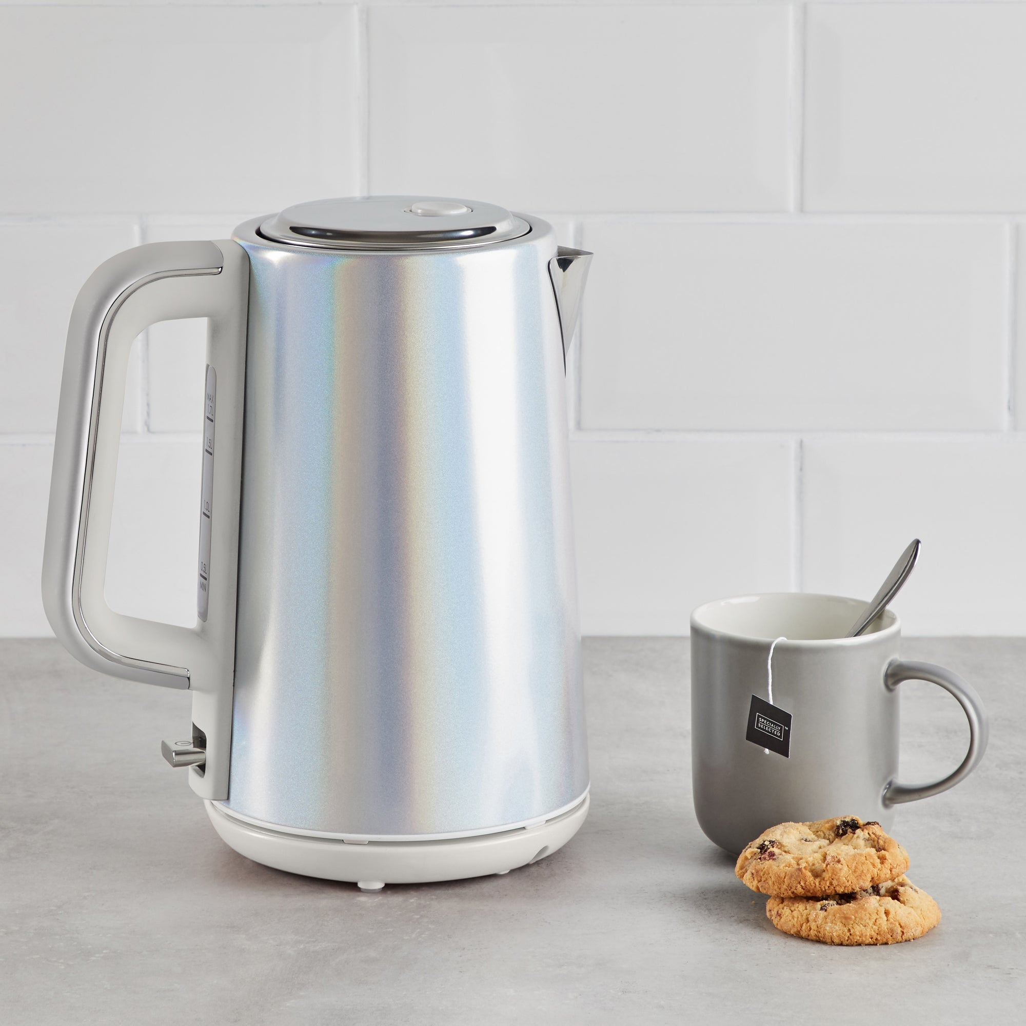 Lustre Effect 17l 3kw Kettle Silver Blue And Yellow