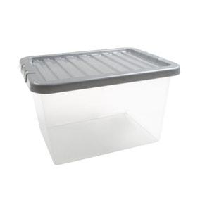 25L Silver Plastic Storage Box