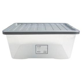 45L Silver Plastic Storage Box