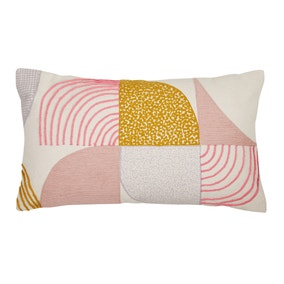 Elements Geo Blush Embroidered Cushion