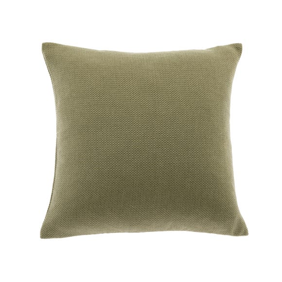 Barkweave Square Cushion Khaki (Green) undefined