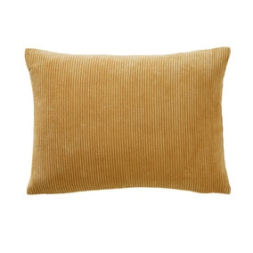 Corduroy Rectangular Ochre Cushion