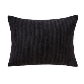 Corduroy Rectangular Black Cushion
