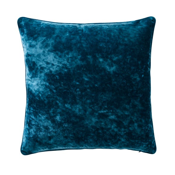 Crushed Velour Cushion Peacock undefined
