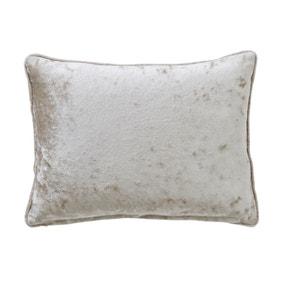 Crushed Velour Rectangular Champagne Cushion
