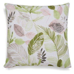 Ashleigh Leaf Woven Green Cushion