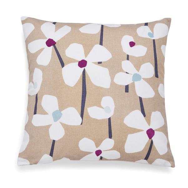 Lena Floral Plum Cushion Plum (Purple)