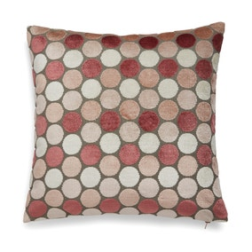 Cut Velvet Spot Blush Cushion