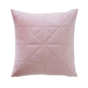 Elements Quilted Triangle Blush Cushion