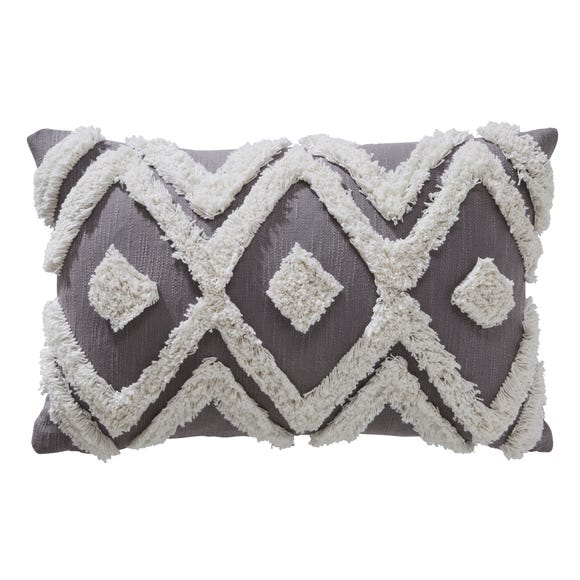 Oslo Tufted Grey Cushion Grey