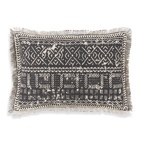 Santiago Woven Charcoal Cushion
