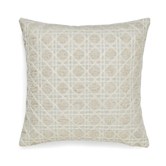 Lucy Cane Embroidered Natural Cushion Natural