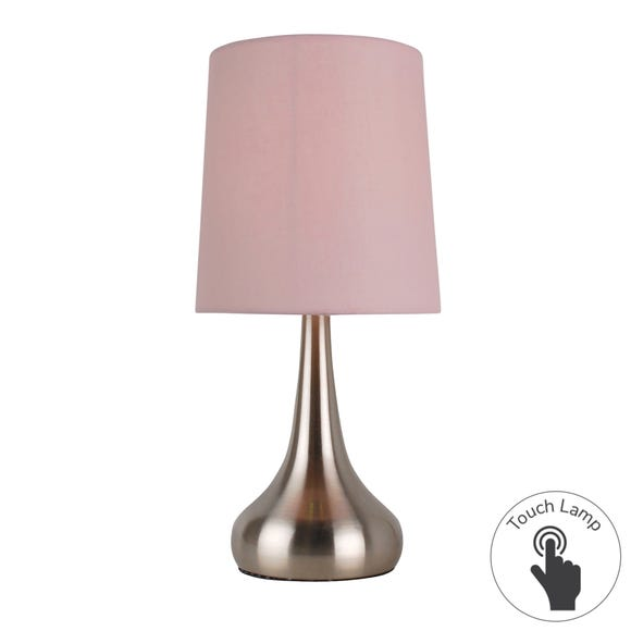 Rimini Pink Touch Dimmable Lamp Pink