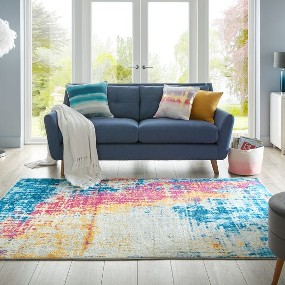 Galaxy Abstract Multi Rug MultiColoured undefined