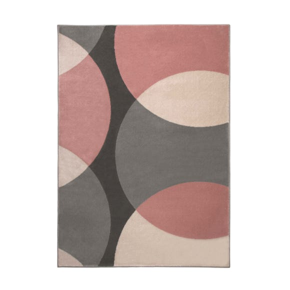 Abstract Geometric Circles Rug Abstract Circles Blush undefined