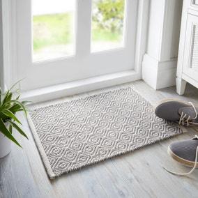 Diamond Weave Grey Doormat