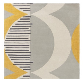 Elements Ochre Shield Square Rug