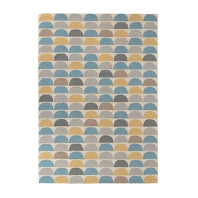 Mode Wool Teal Rug
