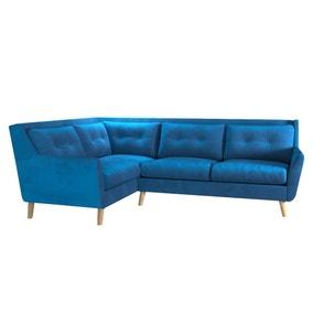 Halston Velvet Left Hand Corner Sofa