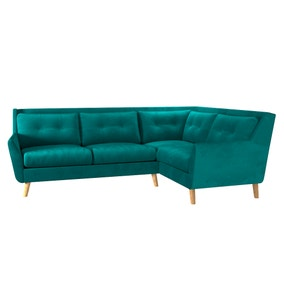 Halston Velvet Right Hand Corner Sofa