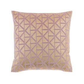 Velvet Geo Foil Blush Cushion Cover