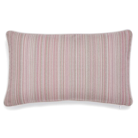 Arden Stripe Woven Cushion Cover Blush undefined