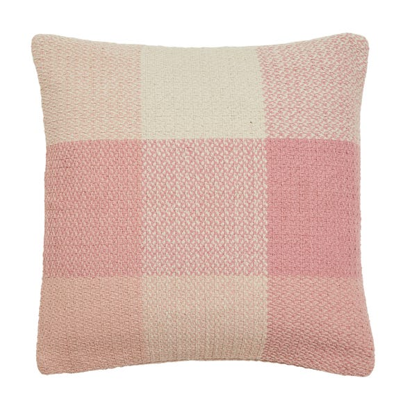 Woven Check Cushion Cover Blush undefined