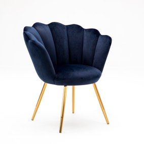 Vivian Velvet Cocktail Chair - Ink