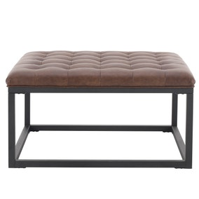 Fulton Footstool - Brown