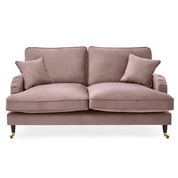 Rupert 2 Seater Velvet Sofa Blush (Pink)